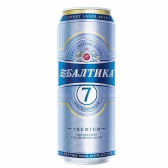 Пиво свытле №7 Балтика 0,5л