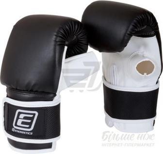 Скидка 20% ▷ Снарядні рукавиці Energetics 225549 р. M Punching Mitts чорний із білим
