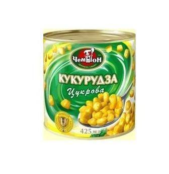 КУКУРУДЗА Цукрова, 425 г ЧЕМПІОН