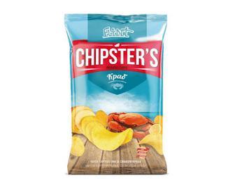 Чіпси Flint Chipster's натуральні зі смаком краба, 130г