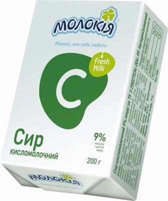 Сир кисломолочний 5% Молокія 200г