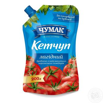 Кетчуп Чумак лагідний для дітей 200г/ Кетчуп Чумак томатний 300г