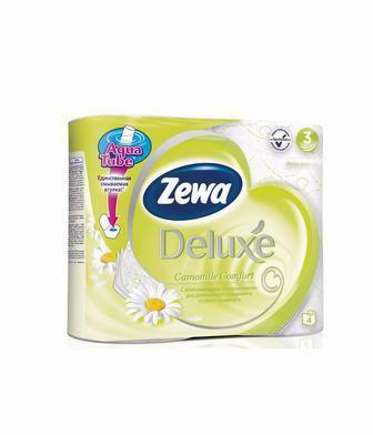 Папір туалетний DELUXE білий, або ромашка  ZEWA 4 шт