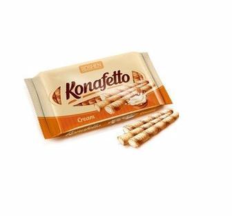 Вафельні трубочки Konafetto згущене молоко-крем, Рошен, 156г