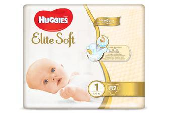 Підгузки Huggies Elite Soft 1 (2-5 кг) 82 шт./уп