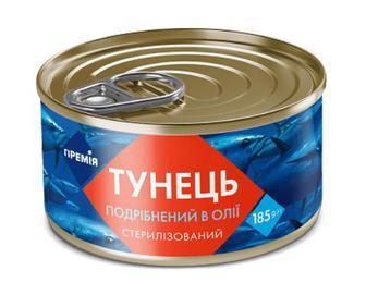 Тунець подрібнений в олії «Премія»® 185г