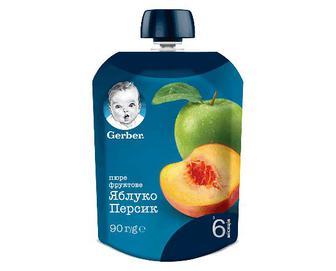 Пюре Gerber яблуко-персик, 90г