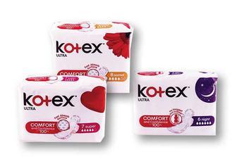 Прокладки гігієнічні Ultra Night/ Super/ Normal Kotex - 6/7/8 шт.