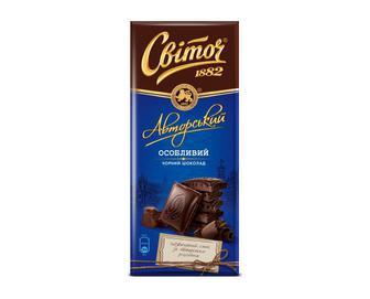 Шоколад чорний «Світоч» «Авторський» особливий, 85 г