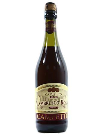 Игристое вино красное полусладкое Ламбруско Lambrusco, Campetto 750мл