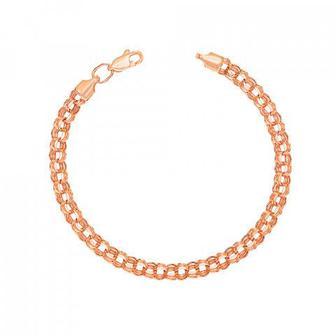 Золотой браслет с алмазной гранью. Артикул 07022