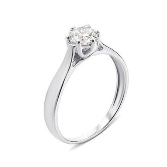 Золотое кольцо с фианитом Swarovski Zirconia. Артикул 12138/б SW