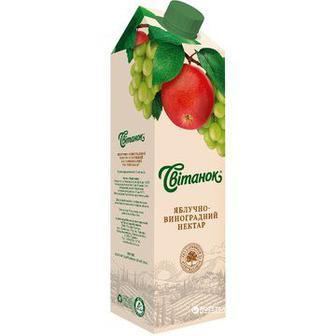 Сік з м'якоттю із суміші фруктів Ягідний або томатний з м'якоттю, нектар мультифруктовий Світанок 0.95 л