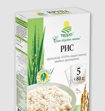 Крупа рисовая быстрого приготовления ТЕРРА 5*80г