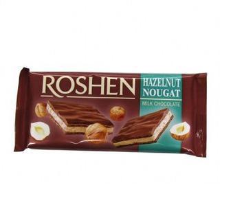 Шоколад Рошен Молочний з нугою 90г