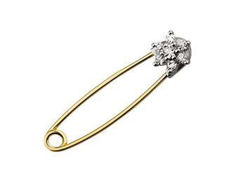 Золота шпилька з фіанітами (5бл-010/34)