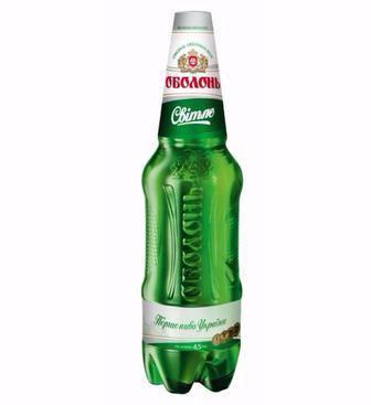 Пиво Світле 4,5% пет, Оболонь, 1,2 л