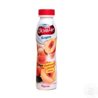 Йогурт питний Персик Дольче 2.5% 500г