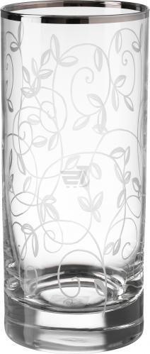 Набір склянок високих Venice 370 мл 6 шт. платина Combi