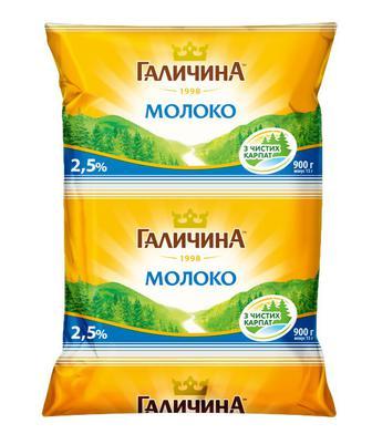 Молоко Галичина 2,5% 900г