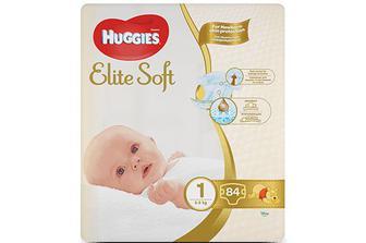 Підгузки Huggies Elite Soft Mega Pack 1 (3-5 кг) 84 шт./уп