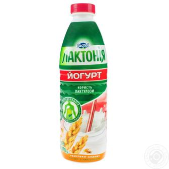 Йогурт с наполнителем Лактония отруби-злаки с лактулозой 1.5% 870г