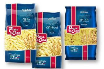 Макаронні вироби Pasta di Casa Пера/ Спіралі/ Витки Своя Лінія 400 г