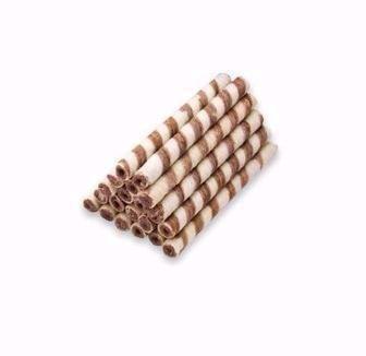 Трубочки вафельні зі смаком какао або молока Бісквіт-шоколад 100г