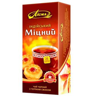 Чай чорний Лисма Індійський Міцний пакетики 25 шт.