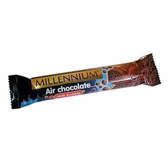 Шоколад пористий молочний/білий 32г Millennium