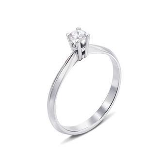 Золотое кольцо с бриллиантом. Артикул 52415/4б