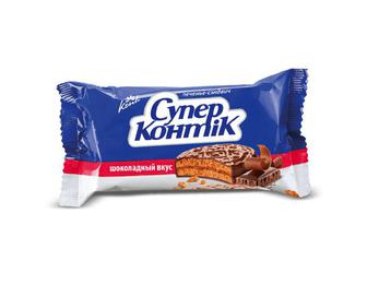 Печиво-сендвіч Konti «Супер-Контік» у шоколадній глазурі, 100г