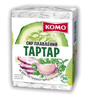Сир плавлений Комо Тартар 55%, 90 г