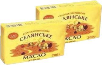 Масло БТМ Селянське солодковершкове 72,6% 200г