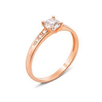 Золотое кольцо с фианитами Swarovski Zirconia. Артикул 12426/SW