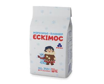 Морозиво-пломбір, Рудь, Ескімос, 750 г
