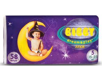 Підгузки Bibby Dream & Play Junior (15–25 кг) 58 шт./уп