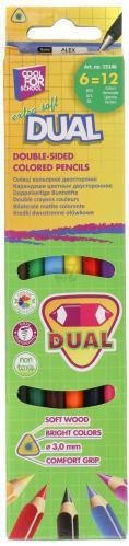 Набір олівців 6 шт. двосторонніх трикутних Extra Soft CF15146 Cool For School