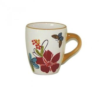 Чашка фарфоровая с декором, 0,35 л