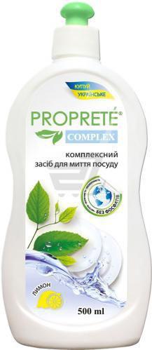 Засіб для ручного миття посуду Proprete Complex, лимон 0.5л