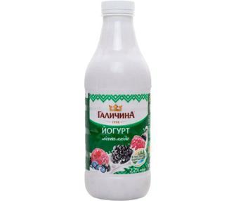 Йогурт Карпатський 2,2% абрикос, полуниця, лісова ягода Галичина 870г
