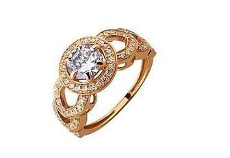 Золотое кольцо с фианитами Артикул 01-17520234