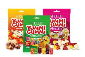 Цукерки желейні Yummi Gummi, Mini Bear mix, Frozen Yogo, Galaxy life 100г