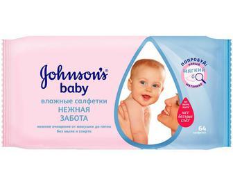 Салфетки влажные Jonsons baby Нежная забота №56