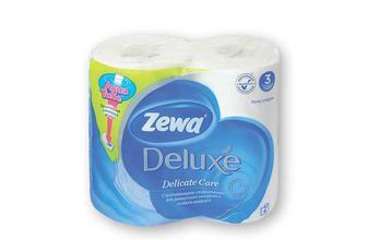 Пaпір туaлетний pure white, 3 шaри Zewa Deluxe 4 рулона