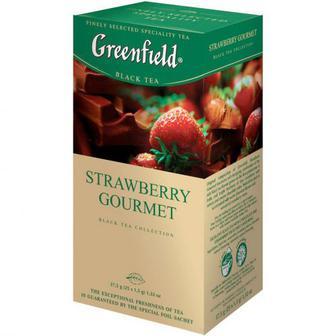 Чай Greenfield Strawberry Gourmet чорний 25шт
