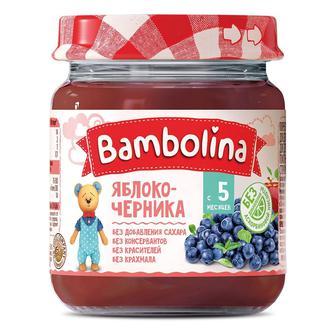 Пюре Bambolina Яблоко-черника 100 г
