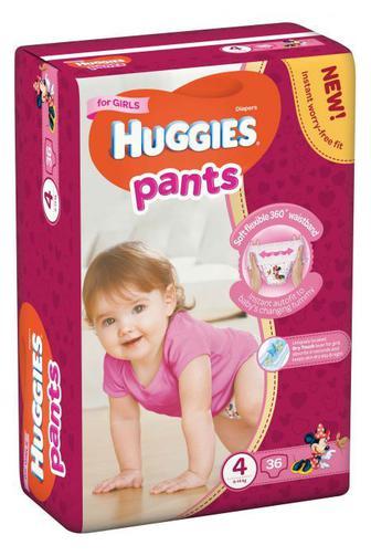 Трусики-подгузники Huggies Pants для девочек р3,4,5 34/36 /44шт