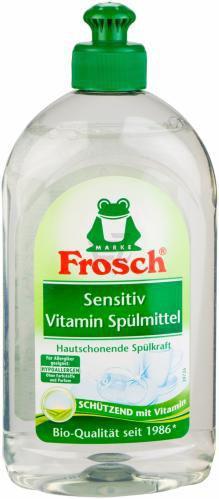 Бальзам для ручного миття посуду Frosch с вітамінами 0,5л