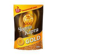 Скидка 40% ▷ Кофе растворимый Gold, Чорна Карта, 190г
